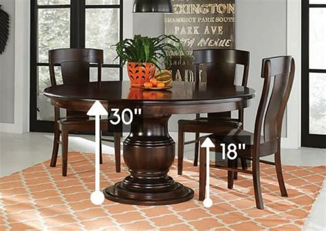 standard dining room table height standard height vs counter height vs bar height amish