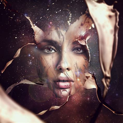 tutorial adobe photoshop effect design a futuristic abstract portrait psdfan