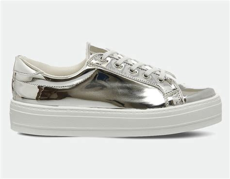 silver sneakers for shoes silver sneakers metallic shoes platform sneakers