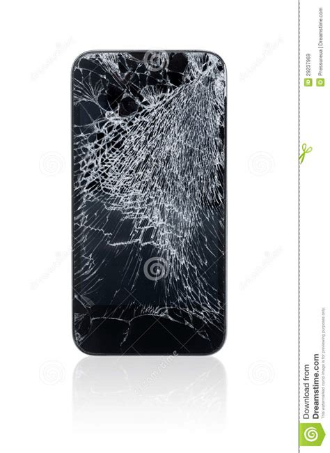 broken mobile phone royalty  stock images image