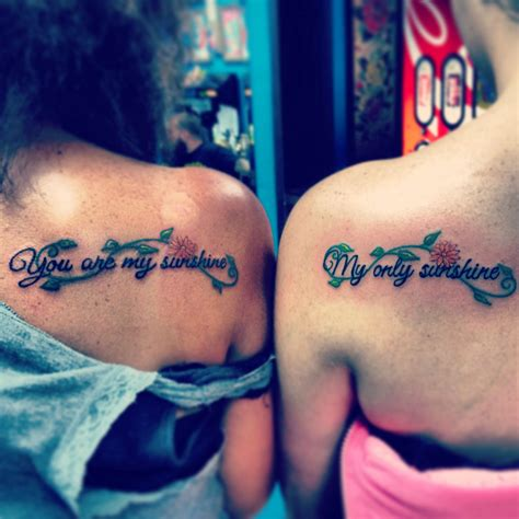 grandma and granddaughter tattoos quot you are my my only