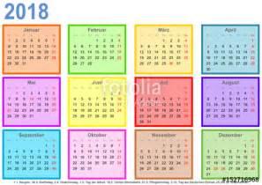 Calendar 2018 Deutschland Quot Kalender 2018 Jeder Monat In Einem Andersfarbigen