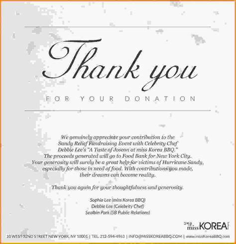 Thank You Letter For Donation Of Food Thank You Letter For Donations Year End Thank You Letter1 Jpg Letterhead Template Sle