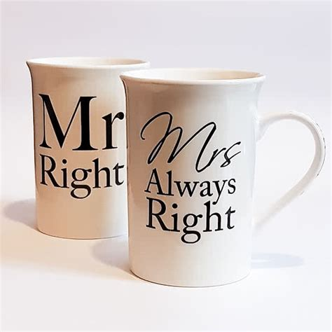 mr mrs right cups engagement gifts ireland