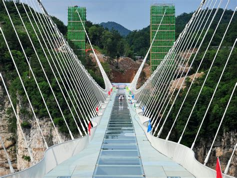 Bridge Glasses the and highest glass bottomed bridge to open this