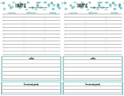 free printable daily agenda half size journals free printable daily calendar planner page