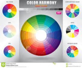 harmonious colors color harmony color wheel with shade of colors stock