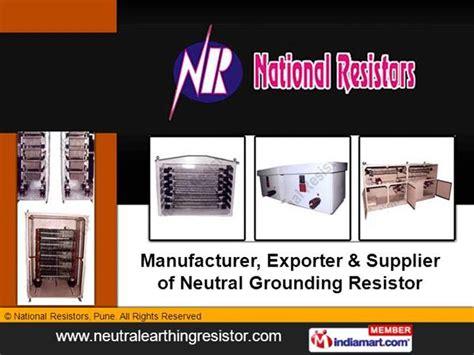 neutral earthing resistor pdf neutral grounding resistors by national resistors pune pune authorstream