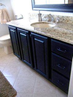 emba granit black before and after of bathroom vanity makeover by the