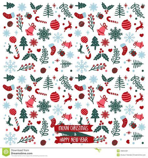 new pattern vector merry christmas happy new year pattern stock vector
