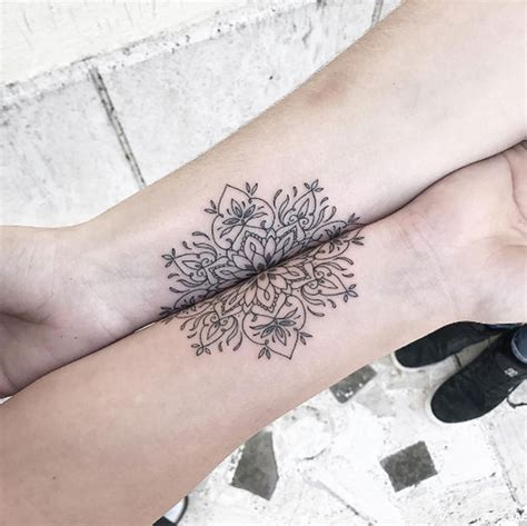 tattoos for couples that connect 45 matching designs for couples siblings and bffs