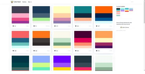 color hunt analyzing ux of color palettes websites prototypr