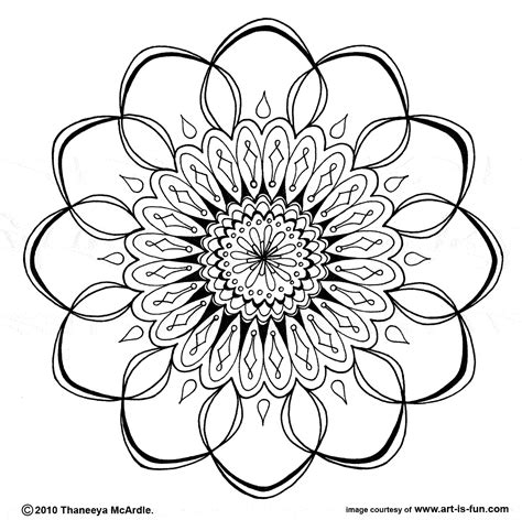 coloring pages of mandala designs free mandala design to print and color mandalas pinterest