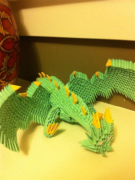 origami 3d dragon tutorial español 3d origami dragon by waddlesthepenguin on deviantart