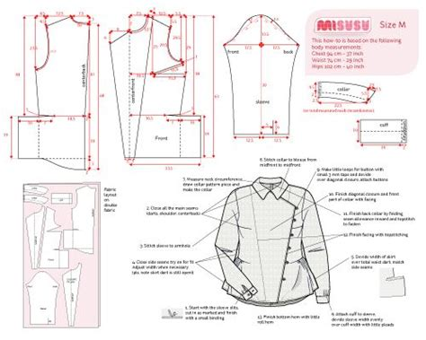shirt pattern diagram shirt inspired by downton abbey misusu more exle of