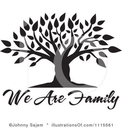 black and white family tree clipart clipground