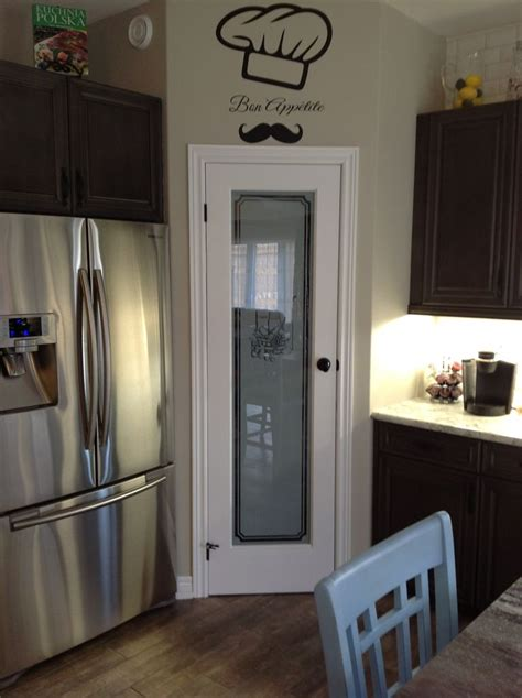 Pantry Frosted Glass Door by Kitchen Will Eventually A Frosted Glass Pantry