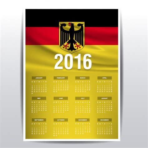Calendario Ist 2016 Deutschland Kalender 2016 Der Kostenlosen Vektor