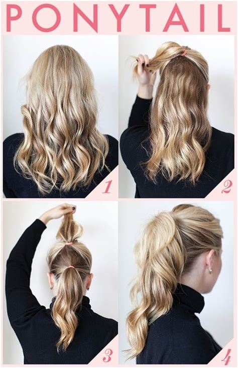 quick and easy hairstyles for short hair step by step 15 cute and easy ponytail hairstyles tutorials popular