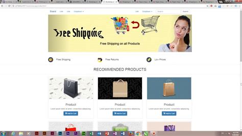 free dreamweaver cc templates ecommerce template by adobe dreamweaver cc