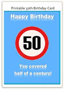 50th birthday card free word template