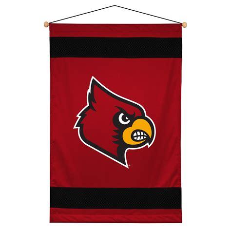 louisville bedding louisville cardinals sidelines wall hanging athlez