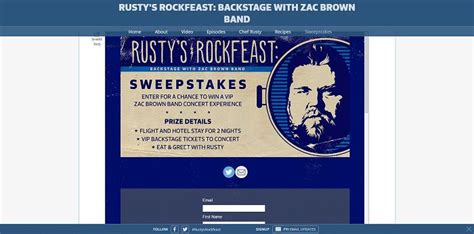 Sweepstakes Unlimited - fyi tv rustysweeps rusty s rock feast sweepstakes