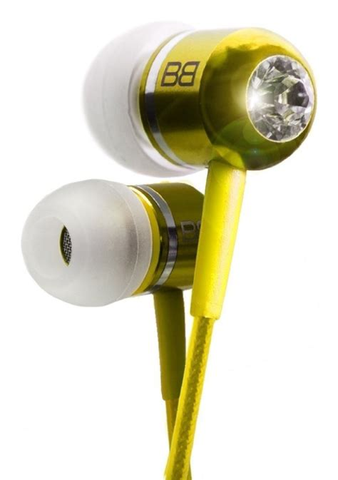 3 5 Mm In Ear Headphones Gold gold plated 3 5mm in ear headphones with genuine swarovski