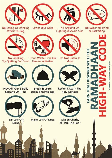 fasting in ramadan islamic posters prayer guidance