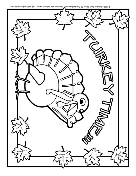 thanksgiving printable coloring page turkey placemat for