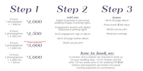 Hochzeitsfotograf Preise by Nashville Wedding Photography Pricing Packages