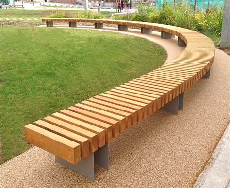outdoor timber bench seats clifton curved seat woodscape street furniture timber