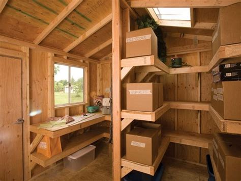 shed interior ideas interior shelving and workbench by tuff shed storage