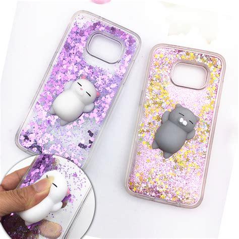 Terbaru Casing Cat Squishy Casing For Samsung Galaxy S7 squishy phone for samsung galaxy s8 plus s7 s6 edge 3d cat fox rabbit bling