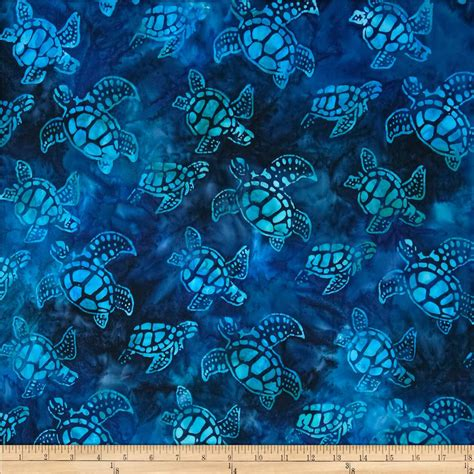 Batik Quilting Fabrics by Artisan Batiks Totally Tropical Small Turtles Regatta