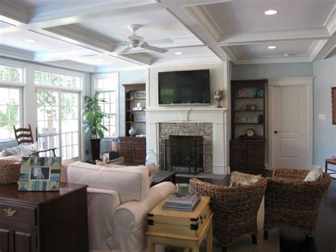 Cottage Style Traditional Family Room Other Metro Cottage Family Room