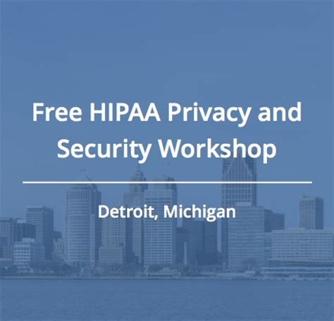 join us for a free hipaa workshop in detroit