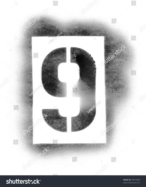 Stencil Numbers Spray Paint Stock Photo 29912584 Shutterstock Number Templates For Spray Painting