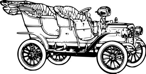 coloring page of model t car early automobiles pamela nowak early automobiles award