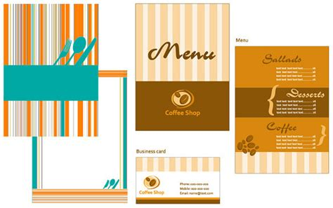 menu card template powerpoint hotel menu card design free vector 14 422 free