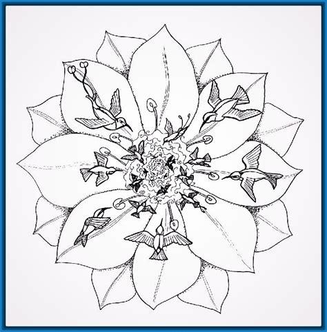 flor mandala para imprimirflor mandala hermosas mandalas para colorear de flores dibujos de