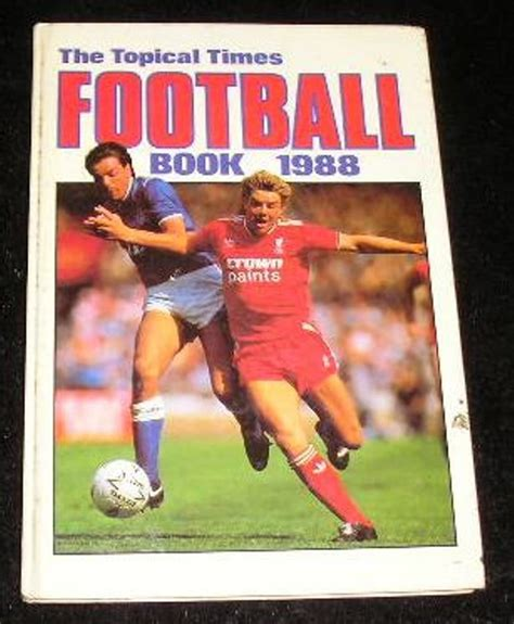 football picture books the topical football book 1988