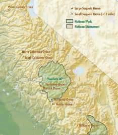sequoia trees in california map sequoia groves map of the range of the