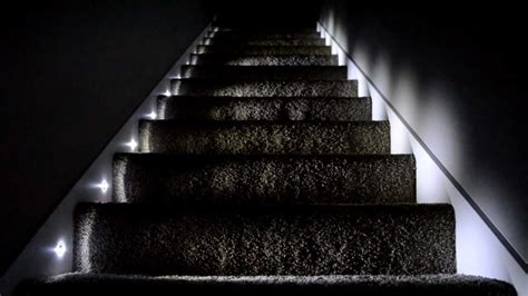 led lights for stairs kit led stair lights kit guideline to install led stair