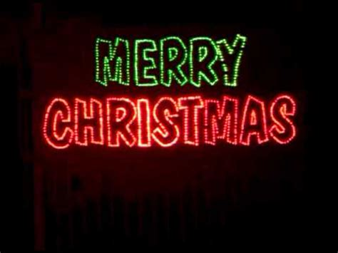 merry christmas sign youtube
