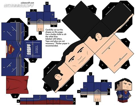 Superman Papercraft - superman of steel cubee check out my cubee