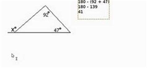 how to find the outdoor how to find a missing angle outside of a triangle 171 math