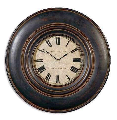Uttermost Clocks Uttermost 06724 Adonis 24 Quot Wooden Wall Clock 140 80 Clocks