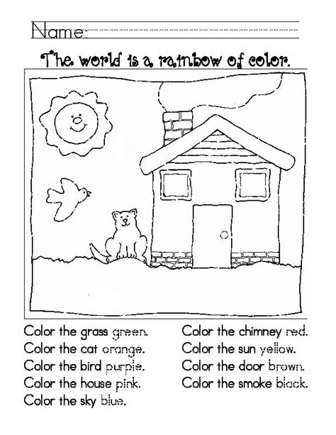 coloring coloring page learn to color by following the color numbers objects to learning colors