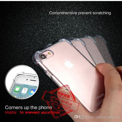 Soft Anti Iphone 6 6g 6s Softcase Anticrack Knock 1 clear anti knock shock soft silicone tpu for iphone 7